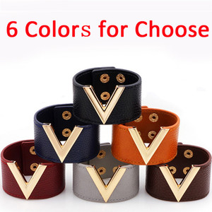 Punk V Shaped Leather Bangles Bracelets Non Mainstream Cuff Bracelets Womens Jewelry Hot Fashion Girls Accessories