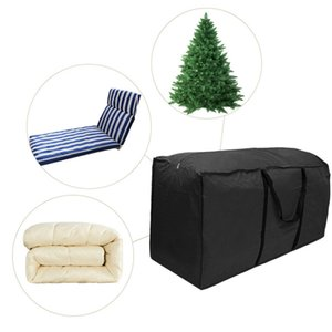 1Pc Outdoor Patio Furniture Chaise Christmas Tree Waterproof Protect Cover Polyester Storage Bag Multi-Function Storage Cushion
