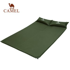 CAMEL 195 * 130 CM Automático Inflable Colchoneta Colchón de Aire Doble Persona Al Aire Libre Senderismo Sleeping Pad