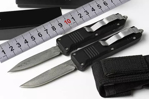 Schmetterling BM C07 7 Zoll Damaszenerstahl aus Aluminiumlegierung hohen Qualität Außen automatischem Messer portable taktische 59HRC Schneidwerkzeug Switch Blade