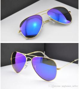 Clássico Sun Glasses 3025 3026 óculos de aviador Proteção UV400 Homens vidros de sol Óculos