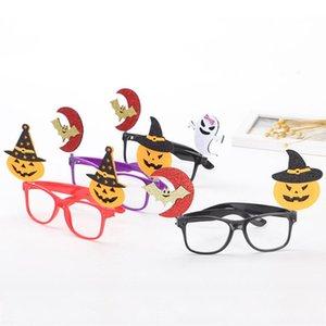 Decoración del festival del partido de Halloween parodia creativa apoyos calabaza Niños Material marco de los vidrios de Halloween del palo 1PC niños