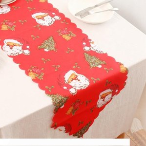 Christmas Table Flag 178*35cm Flower Printed Tablecloth Polyester Table Cloth Mat Dinning Home Christmas Decoration OOA7331