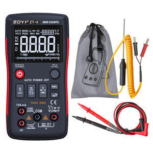 ZT-X Digital Multimeter AC DC Voltmeter True RMS NCV Diode Capacitor Resistance Thermocouple Data Hold LCD AutoRange Multimeters