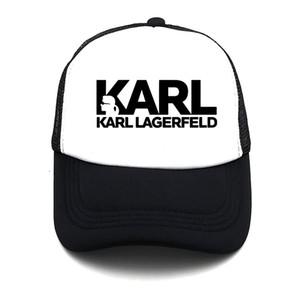 Bahar sevimli baskı Karl ve onun kedi yaz beyzbol net kap erkekler ve kadınlar moda trendi düz renk basit nefes örgü net şapka