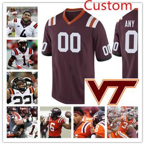 Mens personalizzato Virginia Tech Hokies Football Jersey Tremaine Edmunds Cam Phillips Josh Jackson Tim Settle Brandon Facyson Wyatt Teller Jersey