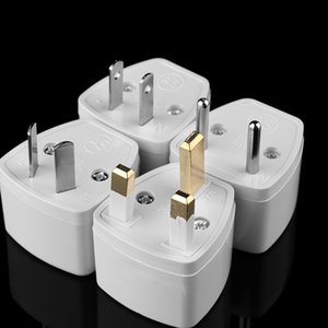 Cheap International Plug Adaptor High Quality White Universal US EU AU Converter to UK HK 3 Pin AC Travel Power Plug Charger