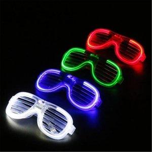 Halloween LED Shutter Glasses Full Light Shutter Glasses star Square Clover Love Glass fashion for Club Party Supplies