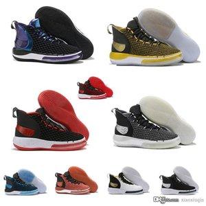 nuovi mens economici scarpe da basket in vendita Viola Blu Bred Squadra Rosso Nero TB LeBron James 17 hyperdunks scarpe da ginnastica di tennis con box alphadunk