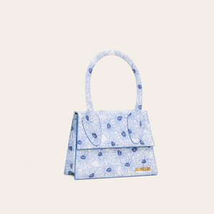 مصنع للبيع المباشر MINI الصغيرة حقائب نسائية 2020 الجديد بحروف حقيبة لو غراند تشيكيتو الزهرة الزرقاء حقيبة الكتف حقيبة يد