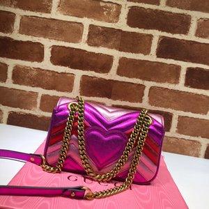 Designer Luxus-Handtaschen Geldbörsen Geldbeutel Umhängetasche 446744 lila rosa Handtasche Frauenhandtasche Luxus-Designer-Rucksäcke Kartenhalter