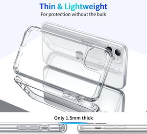 Crystal Clear acrylic for iphone 11 pro max x xs xr 7 8 Plus SE 2020 Galaxy S9 S10 E 5G S20 Plus Note 10 pro LG G8 V50 Shockproof TPU Case