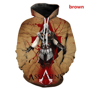 The new 2019 assassin's creed sword god domain 3D printed cosplay animation accessories hoodie men's fashion hoodie