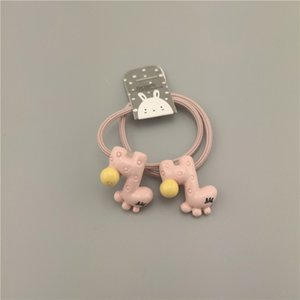 Korean Animal Little Girls Elastic Hair Bands Star Rabbit Elephant Ponytail Holder Scrunchies Hair Tie Rope