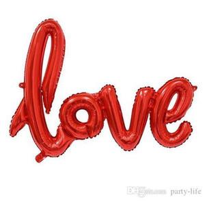 100pcs muito, Decoração do partido do dia de Valentim Ligatures Amor Foil Balloons Alumínio balão de hélio Ballons casamento