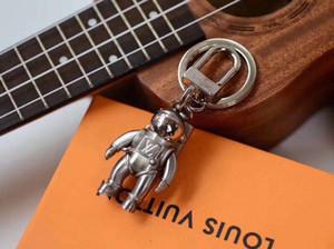 여성 남성 선물 패션 키 체인 액세서리 우주 비행사를위한 디자인 자동차 키 체인 가방 펜던트 매력 보석 꽃 열쇠 고리 홀더