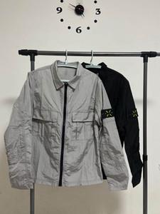 2020 망 고전적인 고급 디자이너 재킷 남성 자켓 방수 고품질의 나일론 팔 로고 자수 라벨 YKK 지퍼 아시아 크기 재킷