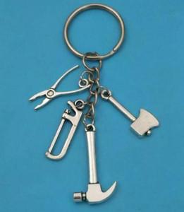 NEW 고품질 키 펜던트 도구 망치 도끼 톱 펜치 매력 키 체인 링 키 자동차 가방 열쇠 고리 핸드백 키 체인 (732)