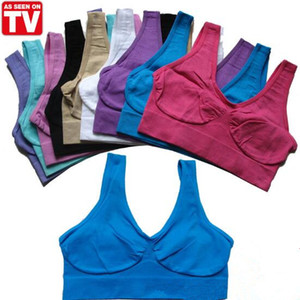 2021 New Sexy Underwear Seamless Ladies AHH Bra Sport Bras Yoga Bra Microfiber Pullover Bra Body Shape 9 colors 6 size