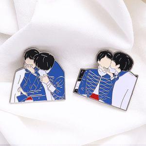 KPOP Bangtan Boy Enamel Pin Lapel Pins Metal Badge Brooch Kpop Accessories Jewelry Gift for Fans