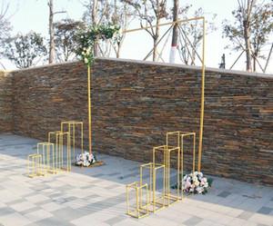 El estante al aire libre de la exhibición del material de la buena calidad se puede reutilizar el soporte de la flor de la flor de 3 m * 3M y el marco de la puerta de la puerta de la boda del color y blanco