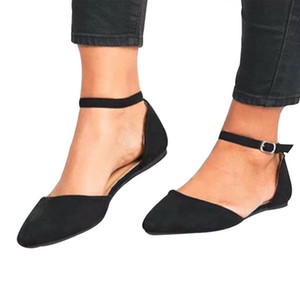 JODIMITTY Düz loafer'lar İçin Kadın Yaz Kare Ayak Ballet Flats Kadınlar Konfor Sığ Düz Deri Ayakkabı Sandalet On Casual Kayma