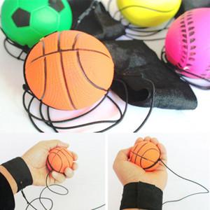 Bouncy Ball Muñequera de goma Bouncing Balls 63mm Niños Reacción elástica Entrenamiento Bolas antiestrés herramienta de enseñanza escolar