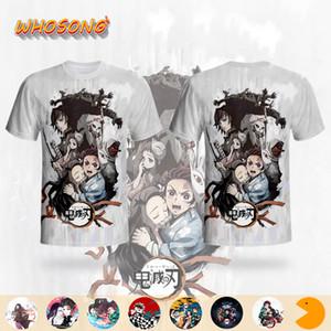 Demon Slayer Kimetsu No Yaiba T-shirt WHOSONG 3D maglietta camicia Ragazzi divertenti vestiti giapponese Anime T Cartoon manica corta da uomo T Y200409