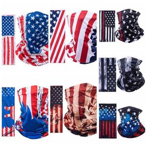 Amerikanische Flagge Sport Masken magischer Schal Stirnband Outdoor-Neck Warmer Radfahren Fahrrad Riding Gesichtsmaske Kopftuch Schal IIA129