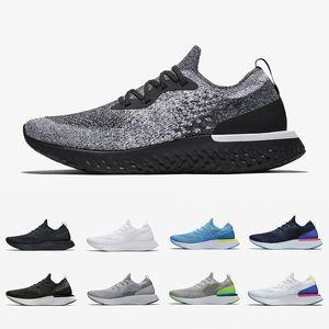 Nike epic React Cookies And Cream Mens React shoes Volt Glow Fusion Racer 블루 트리플 화이트 블랙 벨기에 스프라이트 그레이 남성 여성 스포츠 스니커즈 36-45