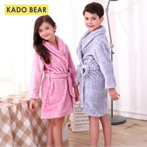 Enfants Flanelle Peignoir hiver Pyjama bébé chaud de nuit garçon tout-petits Peignoirs enfants molleton Pyjama Serviette Pijamas CJ191202