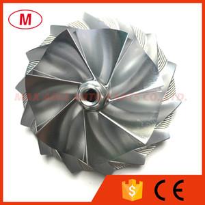 HX40 66.90 / 92.00mm 7 + 7 hojas delantero Turbo del alto rendimiento del billete rueda de compresor / aluminio rueda 2.618 / Fresado de turbocompresor