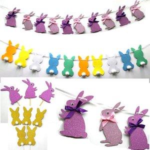 Pâques Pull Drapeau Pull Fleur Bunting Carte Parti décoration élégante yeux de lapin de Pâques drapeau mise en page de Pâques Décorations T2G5069