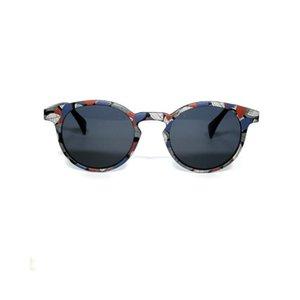 Erkekler Yuvarlak Güneş kadınlar için Polarize Klasik Vintage% 100 UV Koruma Hafif Retro moda Sürüş Purple sunglasses