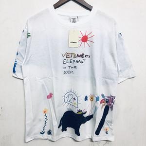 dongguan_ss pics reale magliette del cotone di alta qualità di Hip Hop Street Wear Uomo Donna T Shirt manica corta