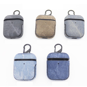 Denim Protective Sleeve Cover Case Wireless Bluetooth Headset For Apple AirPod 1 2 Earphone Charging Cas For Headphone DHL