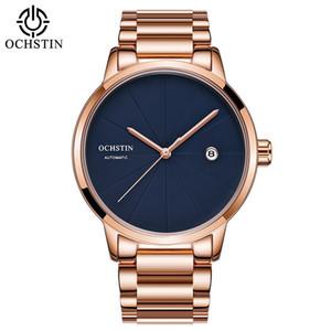 Luxus Top Marke Ochstin Herren Mechanische Uhr Rose Gold Vollstahl Armband Horloges Mannen Kleider Automatische Datum Sportuhr J190706