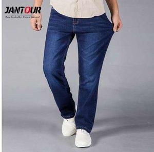 jantour Jeans Hommes Coupe Droite Bleu Stretch Denim Pants Grande taille Pantalon Business Cowboys Homme Jean 40 40 44 taille