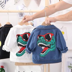 Baby Boys Denim Jacket New Spring Autumn Jackets Kids Cartoon Outerwear Coats For Girls Clothes Children Dinosaur Jacket 12M 4Y Kids L 8Vsr#