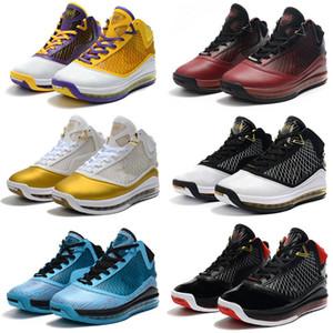 2020 Mais recente LeBrons 7 VII Lakers Basketball Shoes frescas criados Rei Equalit Lightyear Lebron sapatilha 7s Sports Trainers tamanho 40-46