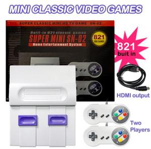 2020 Nouveaux jeux HD 1080P 821 Jeux super mini TV snes série SNES 821 jeux consoles de jeux avec boxs de détail
