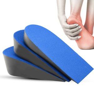 Sunvo Aumentar Metade Palmilha Invisible Heel Eleva Insira Esportes sapatos Pad Taller Altura Aumento Inserções Soles por Homens Mulheres