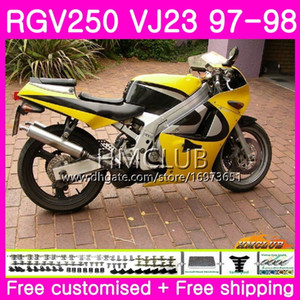 Bodys For SUZUKI SAPC RGV-250 VJ22 VJ21 RGV 250 97 98 99 Frame Stock yellow 19HM.24 RVG250 VJ23 RGV250 VJ 21 22 23 1997 1998 1999 Fairing