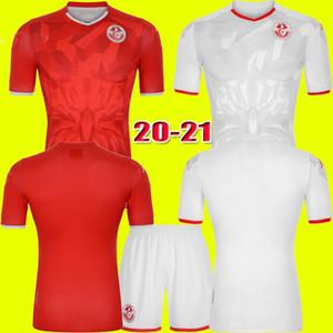 20 21 Tunisia Soccer Jerseys 2020 2021 Msakni Khazri Sliti Wahbi Khaoui FAKHREDDINE BEN YOUSSE HAMZA Home away Football Shirt