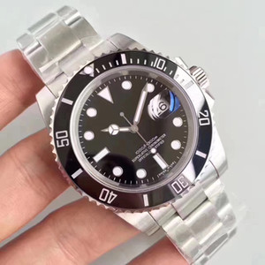 alta qualidade 3A + esportes do relógio de cerâmica boca anel relógio automático do espelho mecânica relógio de forma safira 116610 homens impermeáveis 30 metros
