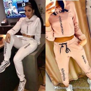 Automne Nouveau / Femmes Casual Survêtements Deux pièces Sweat à capuche + Pantalons Sweats à capuche Fashion Slim Automne Designer Survêtements femmes Outwear vêtir