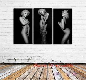 Deusa Marilyn Monroe, 3 P Peças de Lona Decoração de Casa HD Impresso Arte Moderna Pintura em Tela (Sem Moldura / Emoldurado)