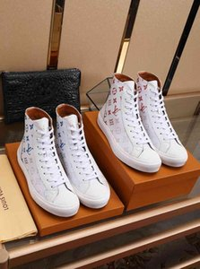2020Designer NEW Mens Shoes Trainers SneakersLVLouisMen's Business Casual Shoes 38-46 1422-13
