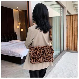 Designer-Winter-neue stilvolle Frauen weicher Kunstpelz Umhängetasche Leopard-Druck-Handtasche mit hoher Kapazität Hohe Qualität Umhängetaschen für Ladi