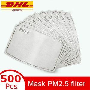 PM2.5 almohadilla del filtro para la máscara anti Haze máscara no tejido del cojín reemplazable Filter-rebanada 5Layers filtro de carbón activo de la mascarilla Gasket MMA3435